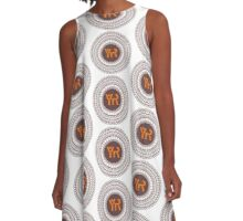 Yoga Rhythms Mandala Logo A-Line Dress