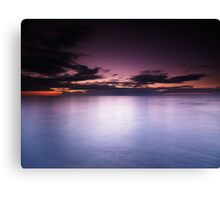 Lake Huron beautiful dramatic twilight scenery art photo print Canvas Print