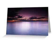 Lake Huron beautiful dramatic twilight scenery art photo print Greeting Card