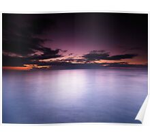 Lake Huron beautiful dramatic twilight scenery art photo print Poster