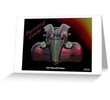 Painted Lady - 1939 Chevrolet Sedan Greeting Card