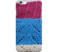 knitted as background iPhone Case/Skin