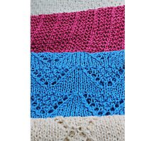 knitted as background Photographic Print