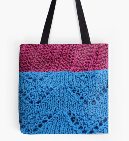 knitted as background Tote Bag