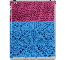 knitted as background iPad Case/Skin