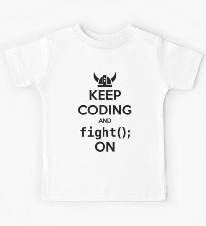 Vikings: Keep on coding Kids Tee