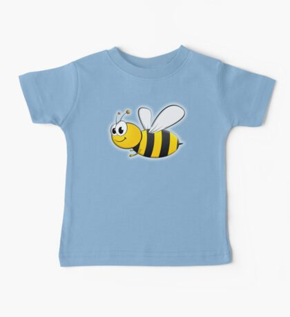 Cartoon, BEE, Bumble, Flying, Insects, Kids, Honey,  Baby Tee