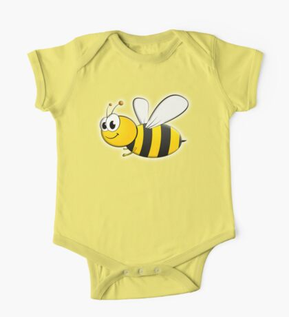 Cartoon, BEE, Bumble, Flying, Insects, Kids, Honey,  One Piece - Short Sleeve