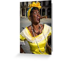 Girl from Havana Greeting Card