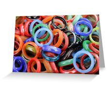 colorful rings as background Greeting Card