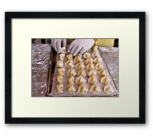 preparation of biscuits Framed Print