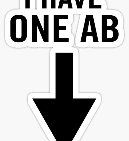 I have one ab Sticker