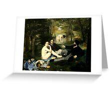 déjeuner sur l'herbe manet Greeting Card