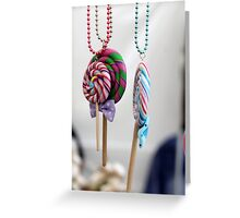 necklace decorated Greeting Card