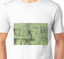 Watercolor of girl studying in a cafe or library  Unisex T-Shirt