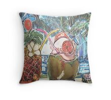 Cocktails Summer and Relaxation  Throw Pillow