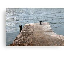 dock on pier lake Metal Print