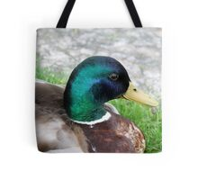 duck on grass Tote Bag