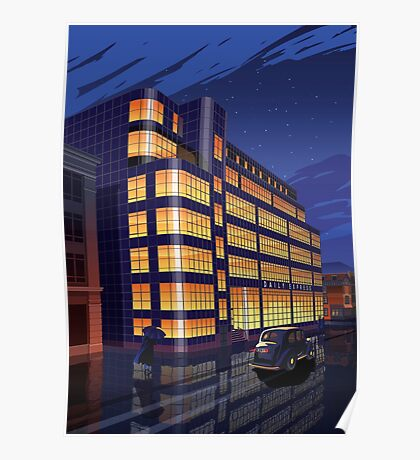 Daily Express Building, Manchester Poster
