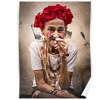 Old cigar woman Poster