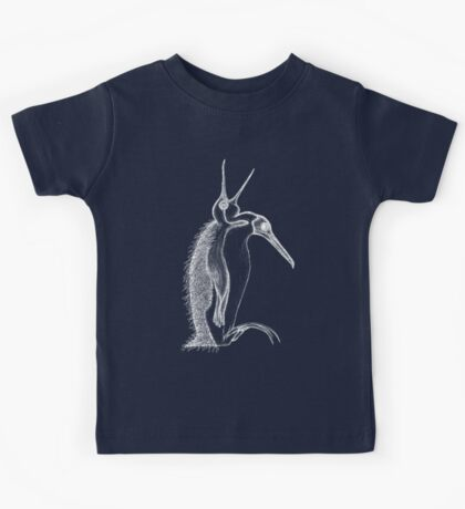 Scary penguin- white Kids Tee