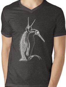 Scary penguin- white Mens V-Neck T-Shirt