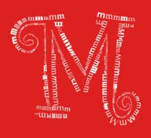 Typographic M letter One Piece - Short Sleeve