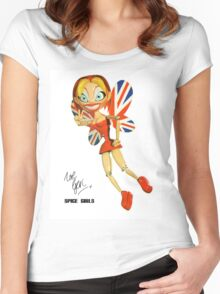 Spice Girls - Viva Forever Faeries - Ginger Geri Fairy (LIMITED EDITION) Women's Fitted Scoop T-Shirt
