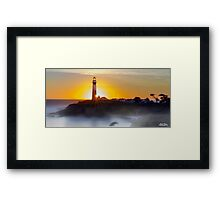 Misty Cali Coast - Color Framed Print