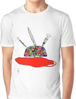 Brainsane (Psychedelic Version) Graphic T-Shirt