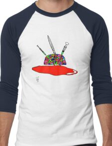Brainsane (Psychedelic Version) Men's Baseball ¾ T-Shirt