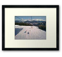 Ski Slopes Framed Print
