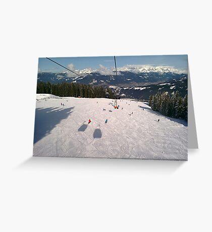 Ski Slopes Greeting Card