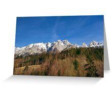 Austria Mountains Greeting Card