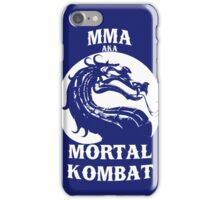 MMA aka Mortal kombat iPhone Case/Skin
