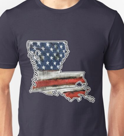 Louisiana USA Flag Unisex T-Shirt