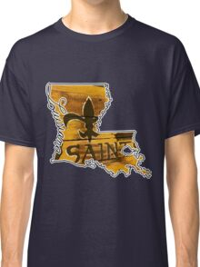 Louisiana State Outline with Saints Classic T-Shirt