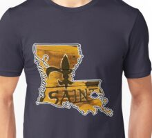 Louisiana State Outline with Saints Unisex T-Shirt