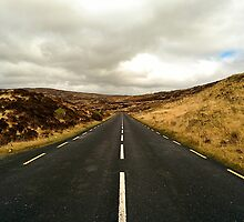 Empty Road Donegal by karlmagee