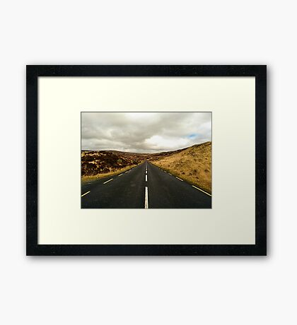 Empty Road Donegal Framed Print