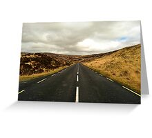 Empty Road Donegal Greeting Card