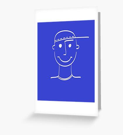 Smiling man face Greeting Card