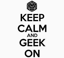 Keep Calm Geek On Black Unisex T-Shirt