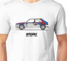 Lancia Delta HF Integrale Evoluzione Group A Martini Racing Unisex T-Shirt