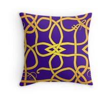 VIking Knot Over Purple Throw Pillow