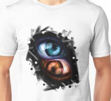 Twins - Red and Blue Eyes Unisex T-Shirt