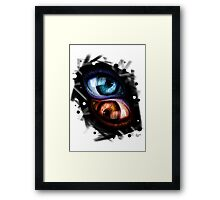 Twins - Red and Blue Eyes Framed Print