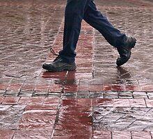 Walking in the rain by awefaul