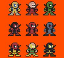 8-bit Deadpool Through the Ages Kids Clothes