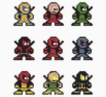 8-bit Deadpool Through the Ages Kids Clothes